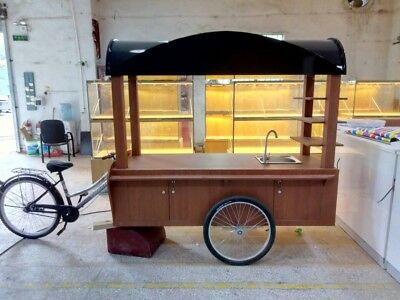 Mobil coffee/food cart - e-bike mobile - perfect for coffee & pre-made food