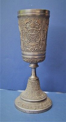 German Kaiser Franz Joseph I Commemorative, 19th Century 1898 Pewter Goblet Cup