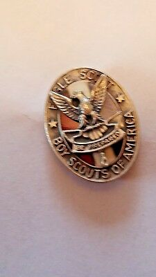 Boy Scout Eagle Scout Hat Pin, Sterling Silver