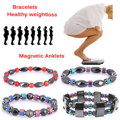 Therapy Healthy Magnetic Hematite Healing Loose Beads Bracelet Boho Multicolor