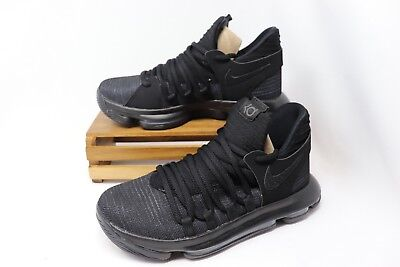 NIKE Zoom KD10 GS Basketball Shoes Kids Youth All Black New 918365-004 4