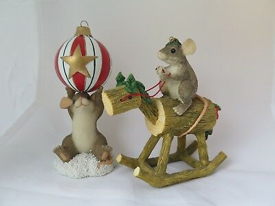 Various Christmas Charming Tails Figurines and Ornaments