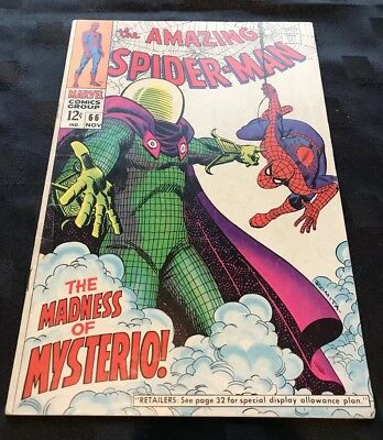 Amazing Spider-Man # 66  The Madness Of Mysterio ! Hot Comic. Spider-Man Film.