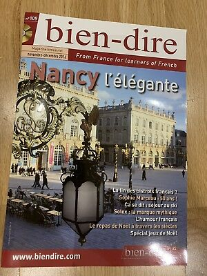 Bien-dire magazine no 109 - For learners of French
