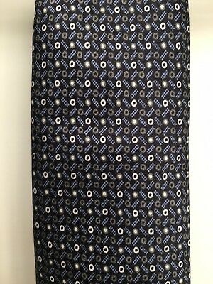 Brioni Men's Tie - Black Blue And White 100% Silk Made In Italy