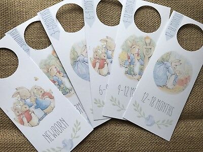 Peter Rabbit Wardrobe Dividers/ Closet Dividers -  Baby Shower Gift