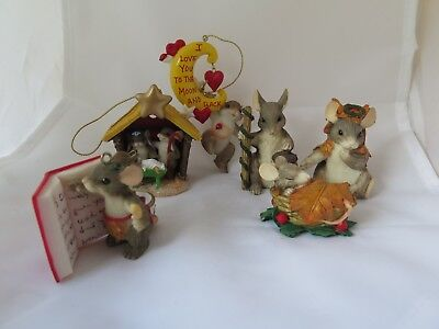 Charming Tails Christmas Figures (Ornaments and Nativity Scene)