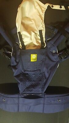 LILLE baby 'Complete - All Seasons' Baby Carrier - with lumbar support!  Navy