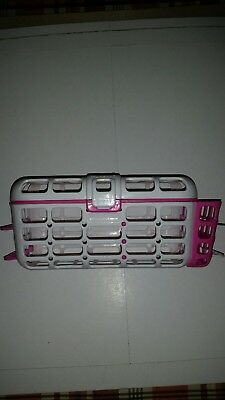 Munchkin Deluxe Dishwasher Basket White with Pink