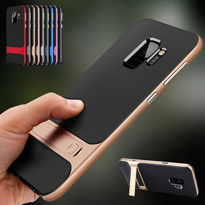 Samsung Galaxy Note 9 8 S9 S8 Plus Rubber Bumper Protective Kickstand Case Cover