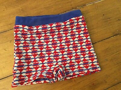 Vintage boy red white blue retro  swim Suit Trunks Bathing Briefs shorts 2T
