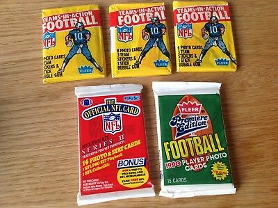 UNOPENED Packs Vintage USA NFL American Football TRADING CARDS Inc 1981
