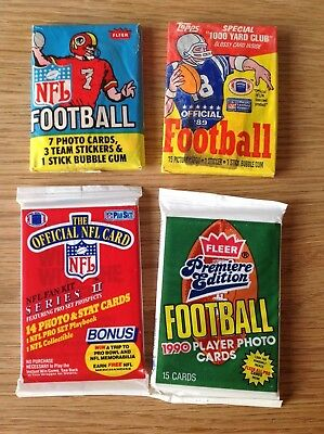 UNOPENED Packs Vintage NFL American Football TRADING CARDS Inc 1979