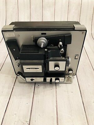 Vintage Bell And Howell Super 8 Mm Movie Projector 357A With Lens Fast Shipping!