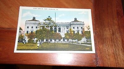 (2) 1930's New Orleans, Louisiana Postcards-Post Office, Tulane University
