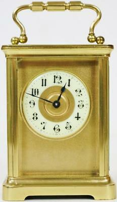Antique French 8 Day Classical Masked Dial Carriage Clock, Platform Escapement