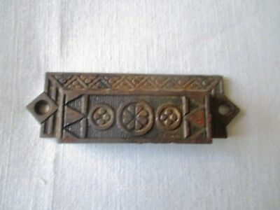 "Antique Victorian Eastlake Cast Iron Pull 4 1/2"" long"