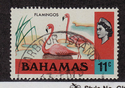 BAHAMAS Used Scott # 322 Flamingos & Queen Elizabeth II (1 Stamp) -4 (6)