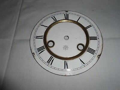 Antique Junghans Striking Wall Clock White Enamel Dial 14 Cm's Diameter.