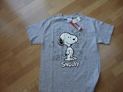 Peanuts Snoopy Tee Shirt Size Medium Gray Tags Attached