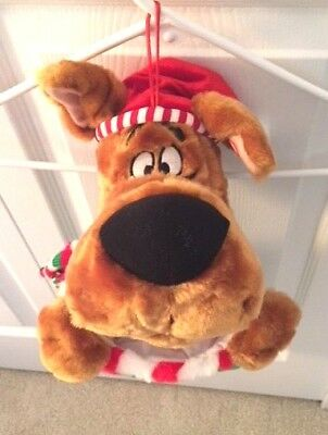 NWOT Vintage SCOOBY-DOO Singing Talking Plush Christmas Stocking