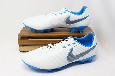 94f9b847e Nike Tiempo Legend 7 Pro FG Soccer Cleats White Blue Gray AH7241-107 Mens  NEW