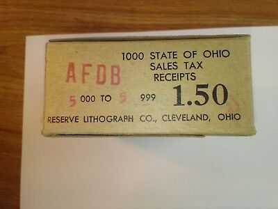 Unopened box of Ohio sales tax stamps