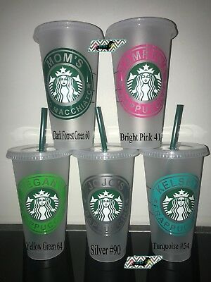Starbucks Reusable Frappuccino Coffee COLD Cup TUMBLER personalized with name