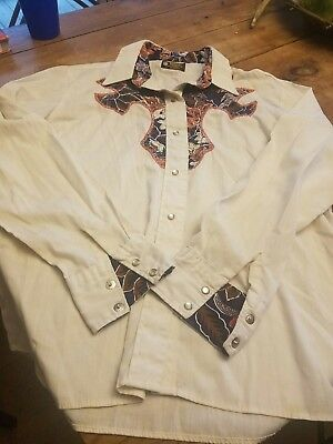 Kenny rogers western shirt Vintage retro pearl snap shirt used small