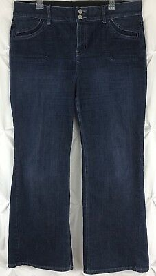 LANE BRYANT Women's Jeans Size 16 Trouser Tighter Tummy Tech Boot Cut Stretch