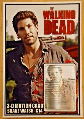 The Walking Dead SHANE WALSH 3D- MOTION CARD ONLY 250 PRODUCED JON BERNTHAL