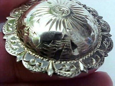 "Fleming Sterling Silver Concho Pin 1 1/2"" Mexico"