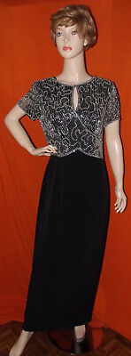 Montage by Mon Cheri beaded black & white Mother of the Bride/prom dress, SZ 12