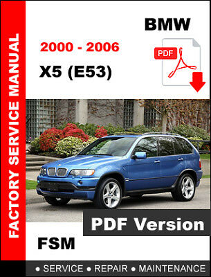 bmw x5 e53 3.0d workshop manual