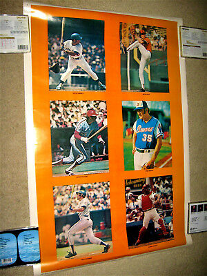 SUPER RARE 1970's MLB ALL-STAR SPORTS ILLUSTRATED SI LIKE POSTER JOHNNY BENCH