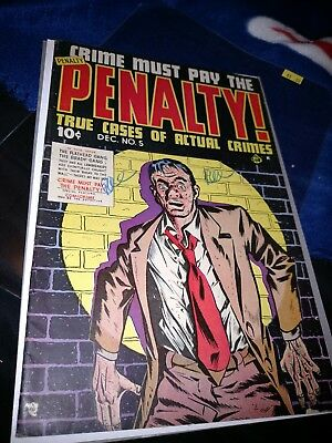 Crime Must Pay The Penalty #5 1948 Junior Books Vg+