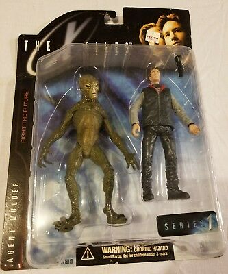 Vintage Fox Mulder Alien 2 Pack X Files Mcfarlane Action Figure Series 1 90s NIP