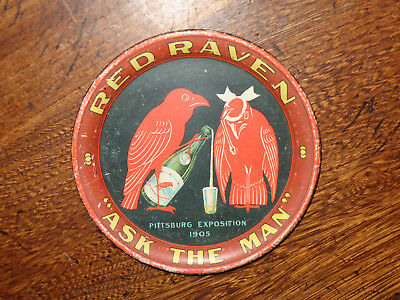 Red Raven ASK THE MAN 1905 litho pre pro tip tray