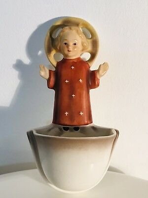 "Vintage Goebel Hummel #26/0 Holy Water Font Child Jesus TMK3 5 1/4"" Tall"