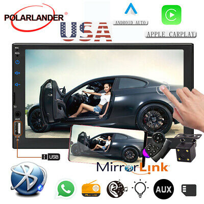 7'' BT Stereo 2 DIN Car Radio FM/TF/USB/AUX MP4 MP5 Player Touch Screen