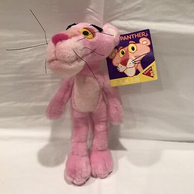"The Pink Panther Vintage 1993 Dakin Small Pink Stuffed Plush Toy 8"" Inch"