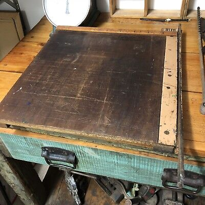 Vintage Wooden Trimmer Guillotine