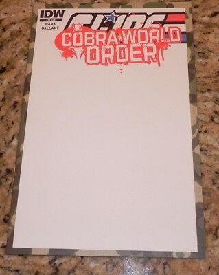 G.i. Joe Cobra World Order #1 Blank Variant Comic Cover 4 Art Sketch -Get Signed