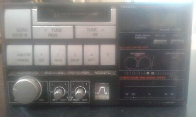 "1986 Toyota Celica Supra ""Acoustic Flavor"" sound system cassette player"