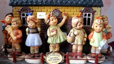 Lot of 7 HUMMEL GOEBEL FiGURINES and A SECOND EDITION ANNUAL BELL HUM 701