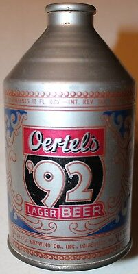Oertels 92 Cone Top Beer Can Crowntainer Irtp Louisville Kentucky Clean