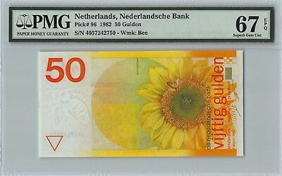 Netherlands 1982 P-96 PMG Superb Gem UNC 67 EPQ 50 Gulden