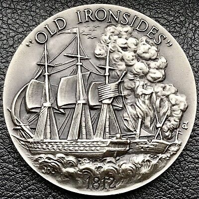 1812 Old Ironsides High Relief Longines Silver Medal Coin (2061)