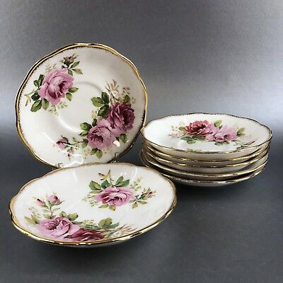 1 Of 7 Royal Albert American Beauty Teacup Saucer Only Bone China