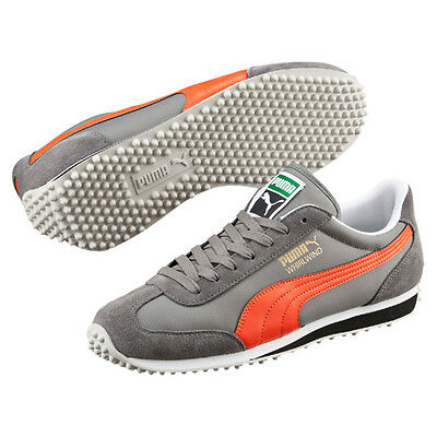 84a48d79c25c PUMA WHIRLWIND CLASSIC Mens White Green Grey Suede   Nylon Trainers ...